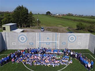 Skyrne GAA Hurling Football Club Sport Wall Shay Murtagh Precast Concrete